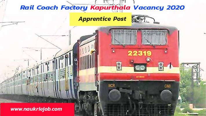 Rail Coach Factory Kapurthala Recruitment