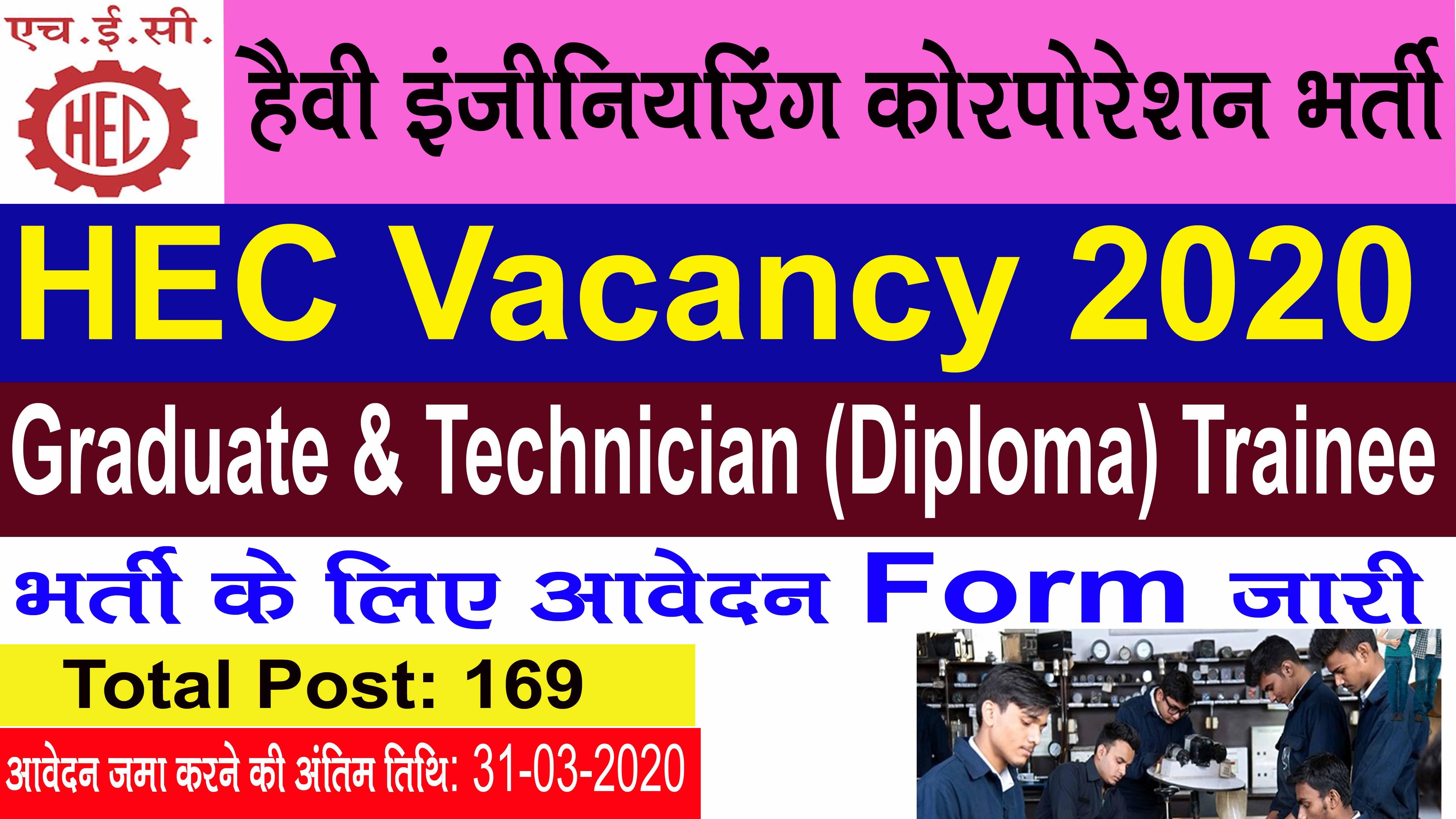 HEC Ranchi Recruitment 2020