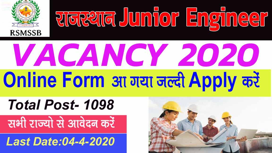 Rajasthan Junior Engineer Vacancy