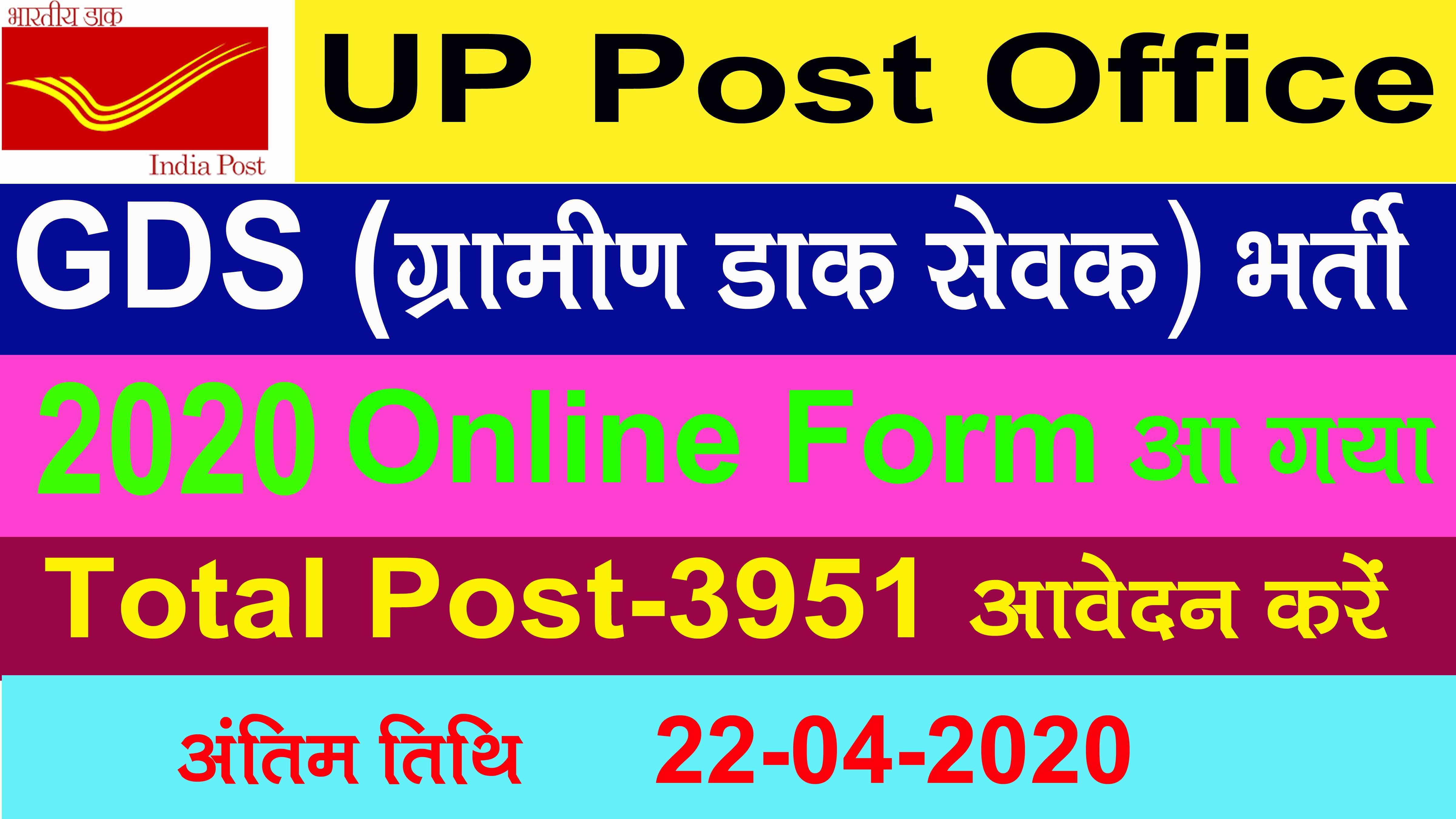 UP Post Office Vacancy 2020
