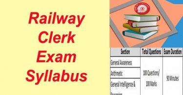 Railway Clerk ka Syllabus Kya Hai